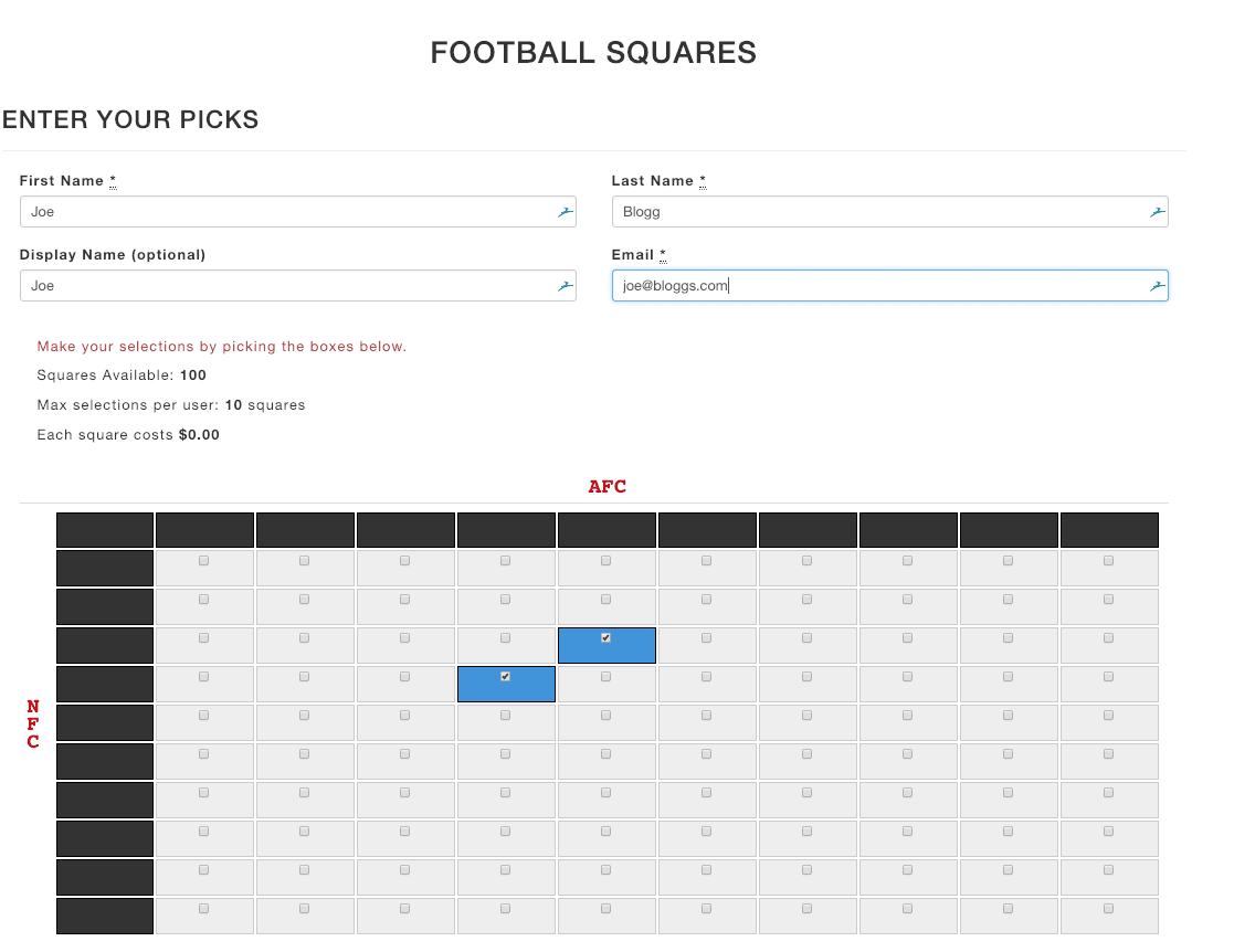 image about Printable Football Squares Sheet named Soccer Squares Tremendous Bowl Squares Engage in Soccer
