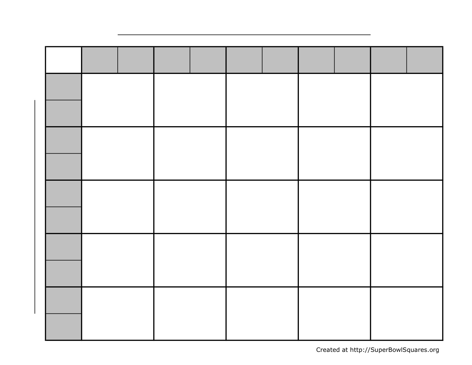 Football squares super bowl squares play football for Block pool template